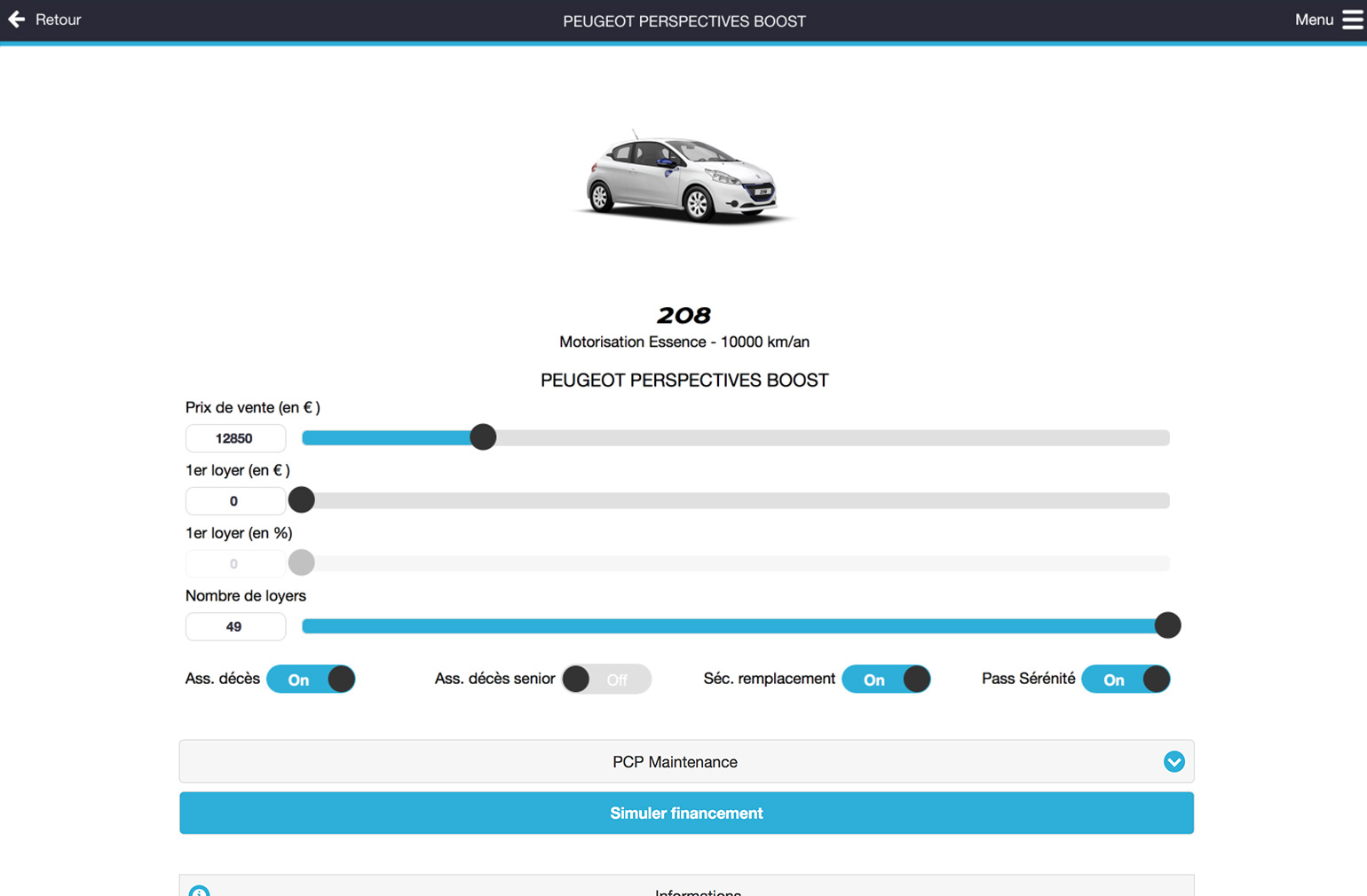 Peugeot Finance Frontend
