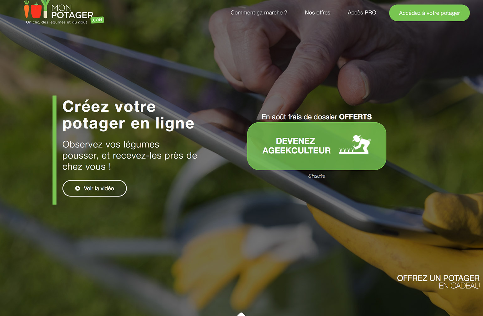 Monpotager Homepage